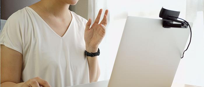 オンライン鑑定の様子